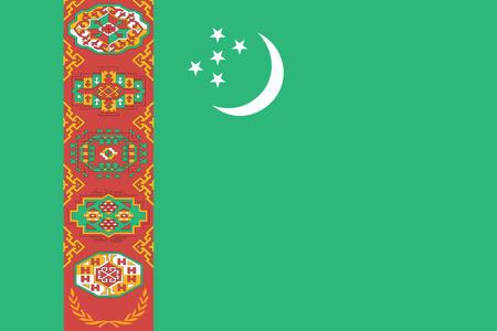 Flag of Turkmenistan. Vector illustration. World flag