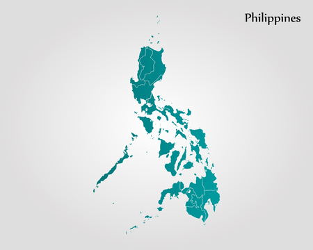 Map of Philippines. Vector illustration. World map Stock Vector - 89751484