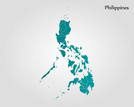 Map of Philippines. Vector illustration. World map Illustration
