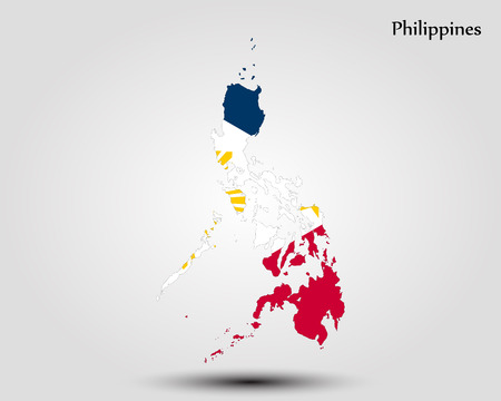 Map of Philippines. Vector illustration. World map Illustration