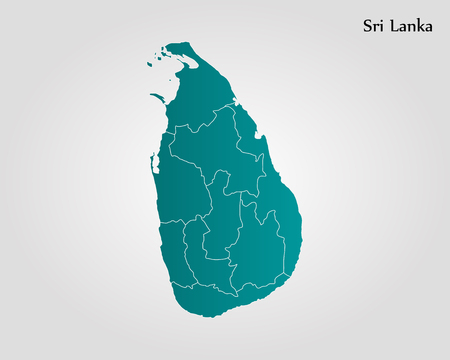 Map of Sri Lanka. Vector illustration. World map Illustration