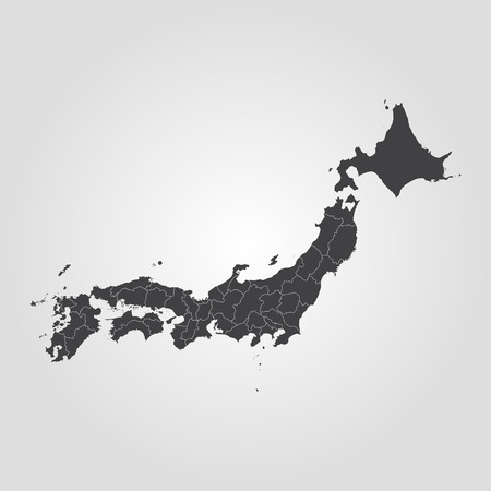 Map of Japan. Vector illustration. World map