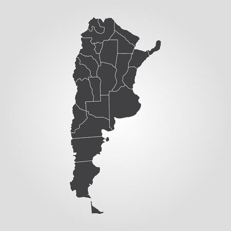 Map of Argentina. Vector illustration. World map Illustration