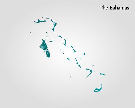 The Bahamas map. Vector illustration. World map