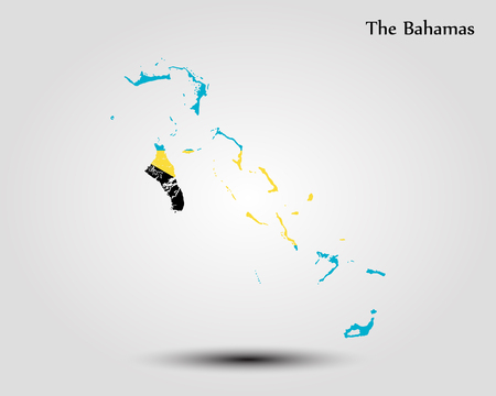 The Bahamas map. Vector illustration. World map