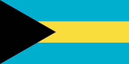 The Bahamas flag. Vector illustration. World flag
