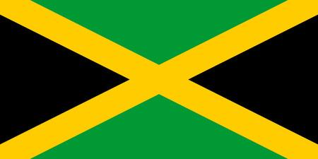 Flag of Jamaica. Vector illustration. World flag