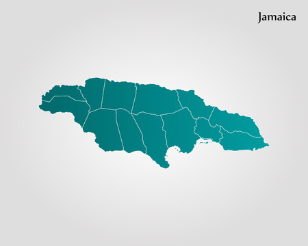Map Of Jamaica. Vector Illustration. World Map Royalty Free Cliparts ...