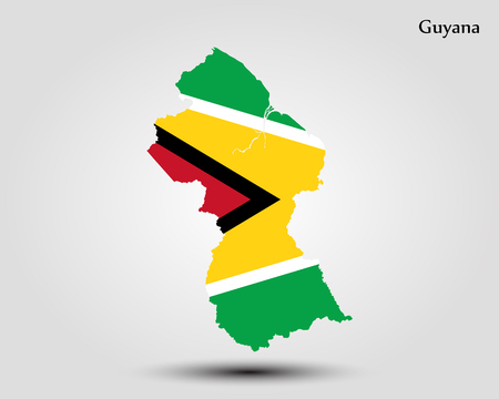 Map of Guyana. Vector illustration. World map
