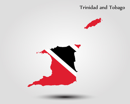 Map of Trinidad and Tobago. Vector illustration. World map Illustration