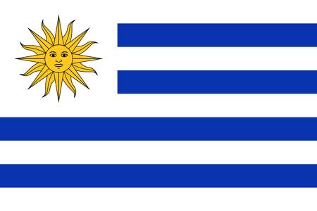 Flag of Uruguay. Vector illustration. World flag