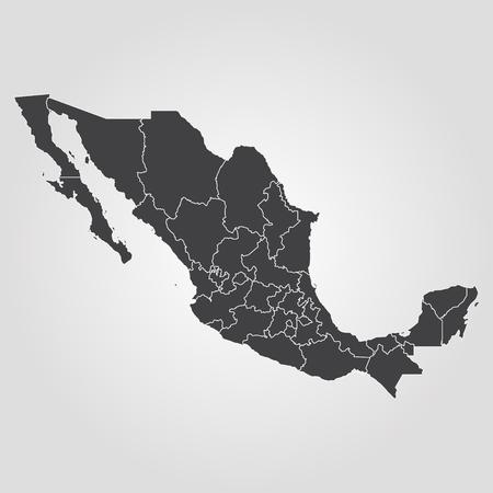 Mapa Meksyku. Ilustracji wektorowych. Mapa świata