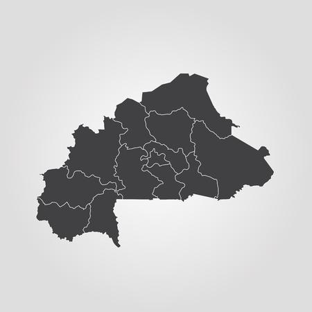 Map of Burkina Faso. Vector illustration. World map Illustration