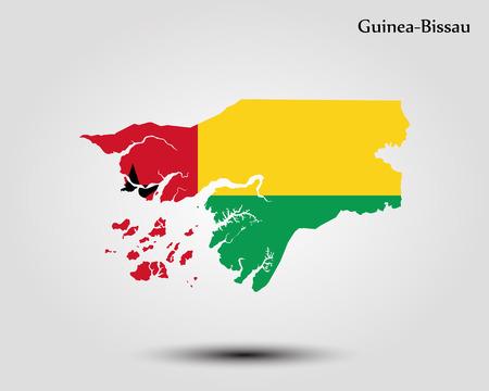 Map of Guinea-Bissau. Vector illustration. World map Illustration