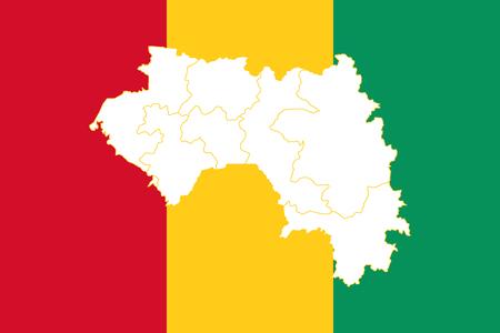 Mapa de Guinea. Ilustración vectorial Mapa del mundo