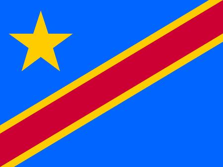 Flag of Democratic Republic of the Congo. Vector illustration. World flag