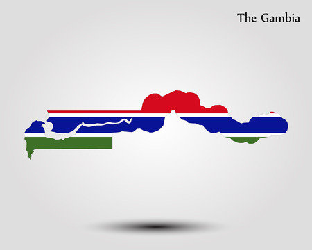 Map of the Gambia. Vector illustration. World map Illustration