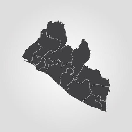Map of Liberia. Vector illustration. World map Illustration