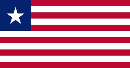 Flag of Liberia. Vector illustration. World flag