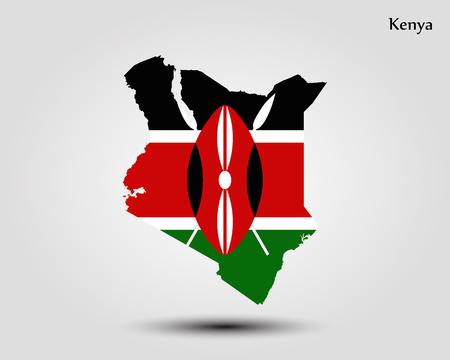 Map of Kenya. Vector illustration. World map
