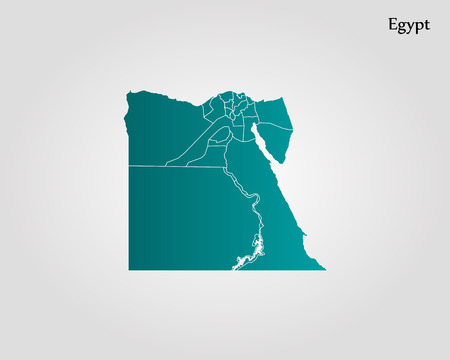 Map of Egypt. Vector illustration. World map