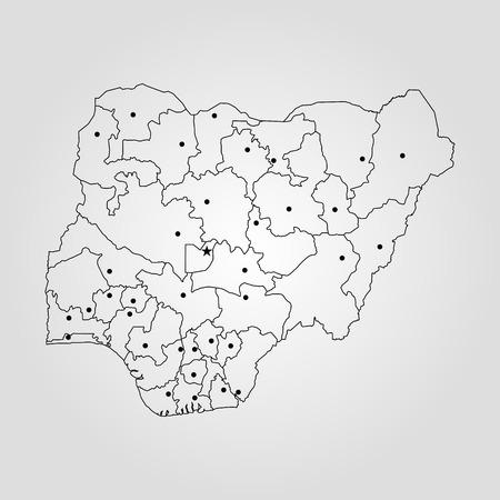 Map of Nigeria. Vector illustration. World map 矢量图像