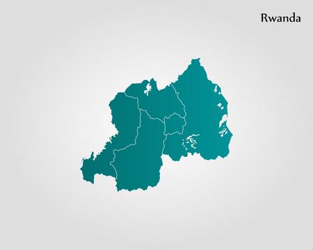 Map of Rwanda. Vector illustration. World map