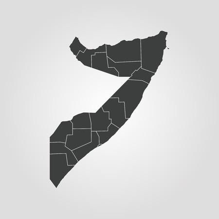 Map of Somalia. Vector illustration. World map