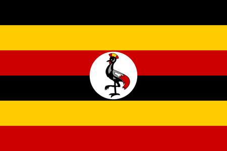 Flag of Uganda. Vector illustration. World flag