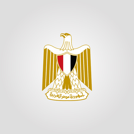 Coat of Arms of Egypt. Vector illustration  イラスト・ベクター素材