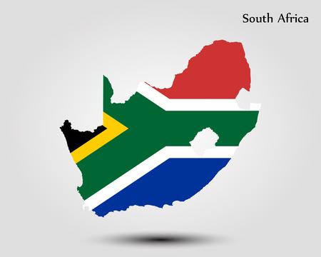 Kaart van Zuid-Afrika. Vector illustratie. Wereldkaart