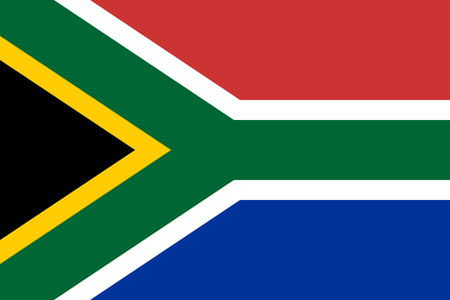 Flag of South Africa. Vector illustration. World flag Illustration