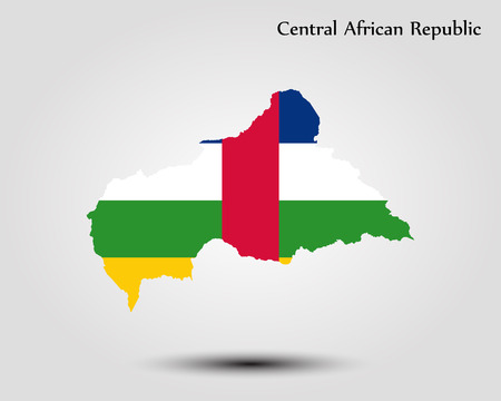 Map of Central African Republic. Vector illustration. World map