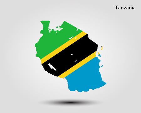 Map of Tanzania. Vector illustration. World map