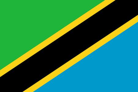 Flag of Tanzania. Vector illustration. World flag