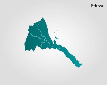 Map of Eritrea Vector illustration of World map Illustration