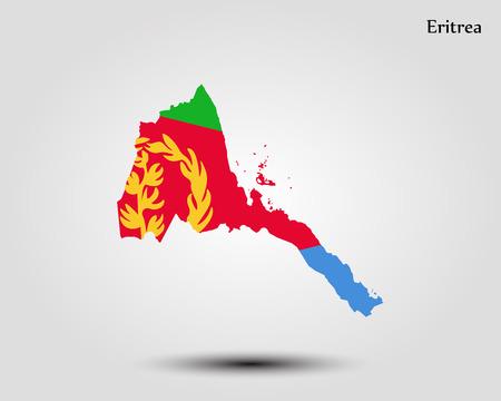 Map of Eritrea. Vector illustration. World map.
