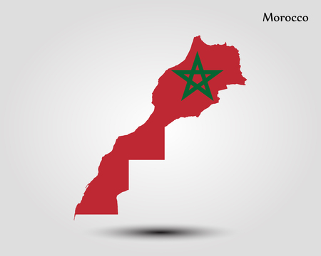 Map of Morocco vector illustration. Vectores