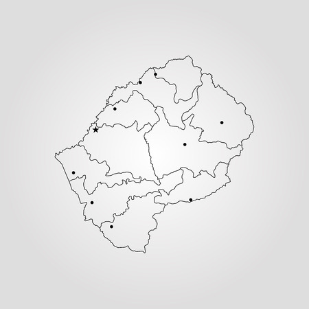 Map of Lesotho vector illustration.
