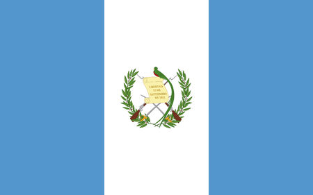Flag of Guatemala vector illustration.