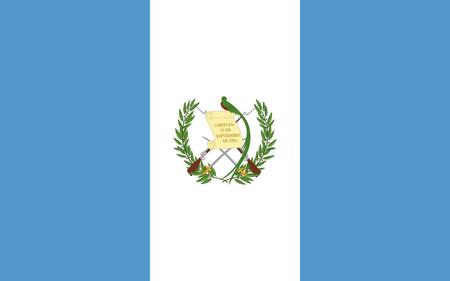Flag of Guatemala vector illustration.