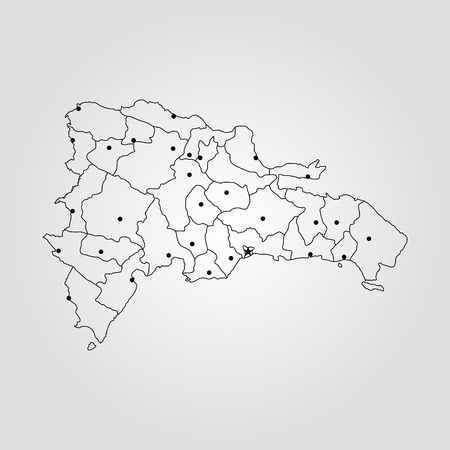 Map Of Dominican Republic Vector Illustration World Map Royalty