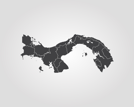 Map of Panama. Vector illustration. World map.