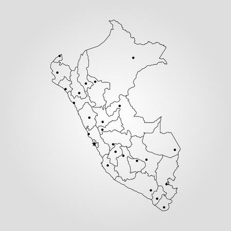 Map of Peru vector illustration. Illustration