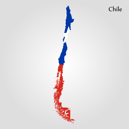 Map of Chile. Vector illustration. World map