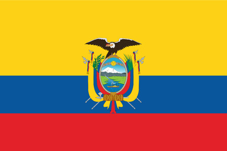 Flag of Ecuador. Vector illustration. World flag