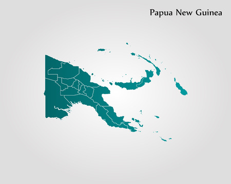 Map of Papua New Guinea. Vector illustration. World map