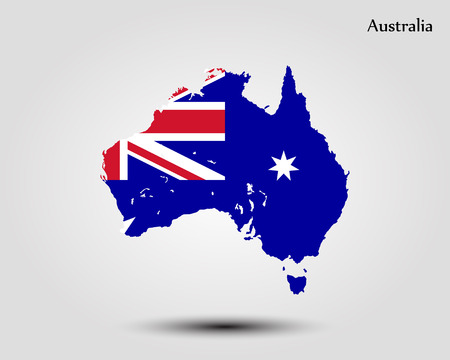Map of Australia. Vector illustration. World map  イラスト・ベクター素材