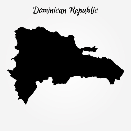 Map of Dominican Republic. Vector illustration. World map