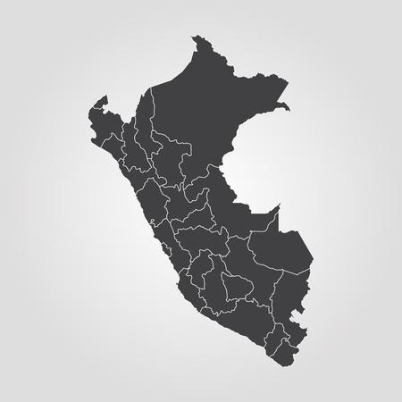 Map of Peru. Vector illustration. World map Stock Illustratie